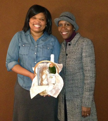 Pamela Coleman of Divine Hearts, Inc., with Wanda Duckett