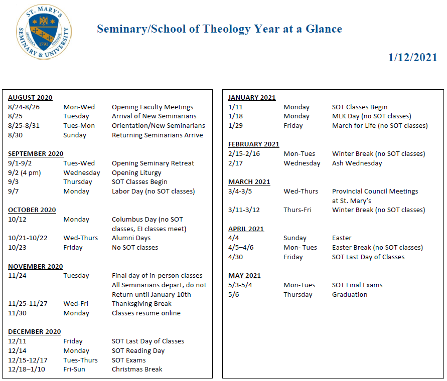 St Marys County School Calendar 2021-2022 Pictures
