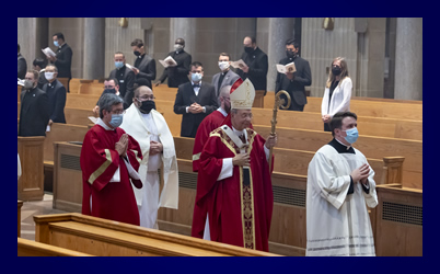 procession at the Mass of the Holy Spirit 2021