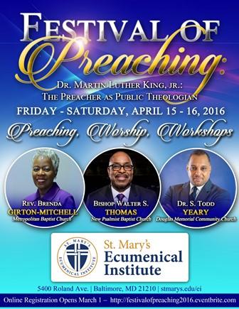 Festival of Preaching April 15-16   Saint Mary's Seminary ...